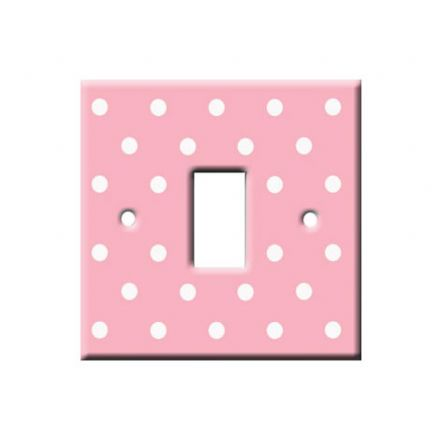 Pink Polka Dot Decorative Light Switch Cover
